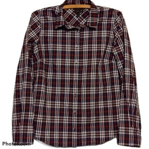 J. Crew Perfect Shirt - Plaid Button Down w/Collar